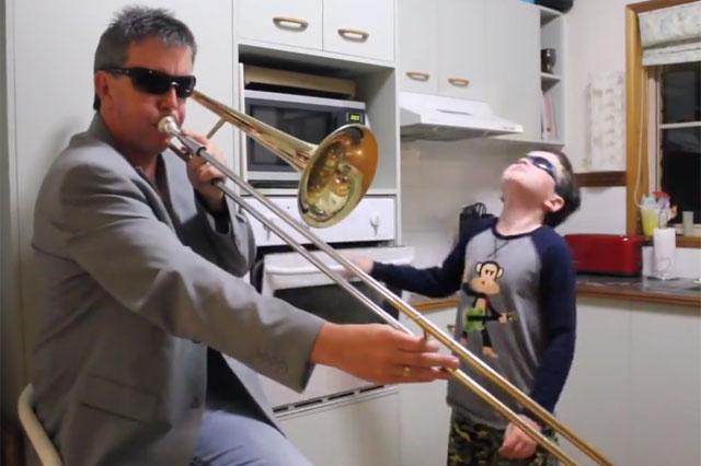trombone dad oven door