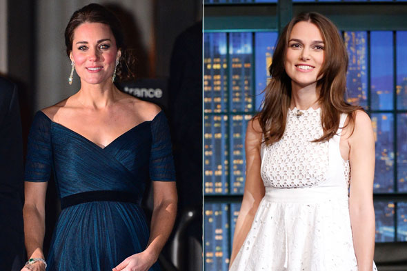 Pregnant celebrities 2015 - Duchess of Cambridge and Keira Knightley
