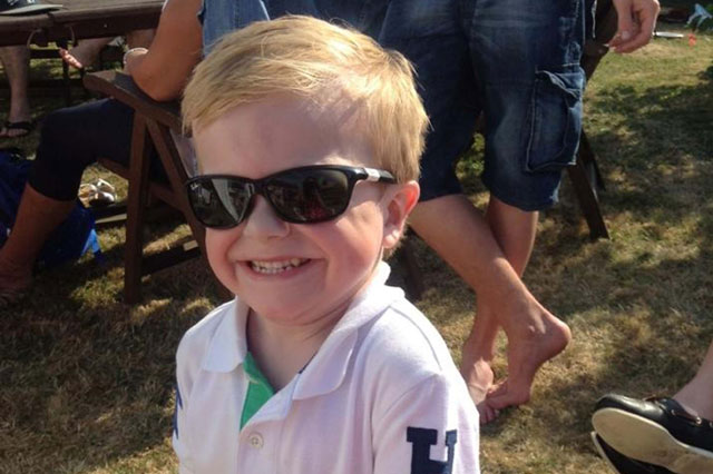 Boy, 6, has to wear sunglasses ever day - whatever the weather