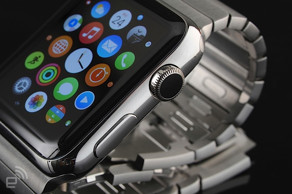 Apple Watch with the steel link bracelet