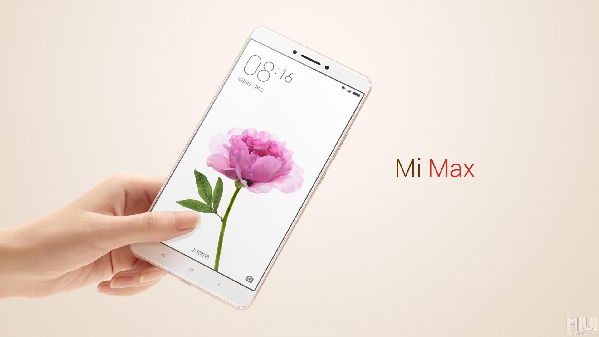 Xiaomi presenta el Mi Max de 6,44 pulgadas y 4.850 mAh