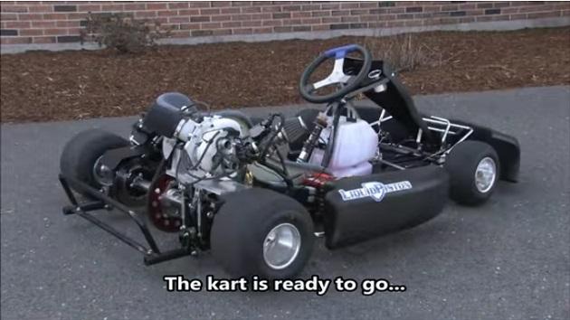 【ビデオ】リキッドピストン社、超軽量な自社開発のロータリーエンジンを搭載したゴーカートの走行映像を公開