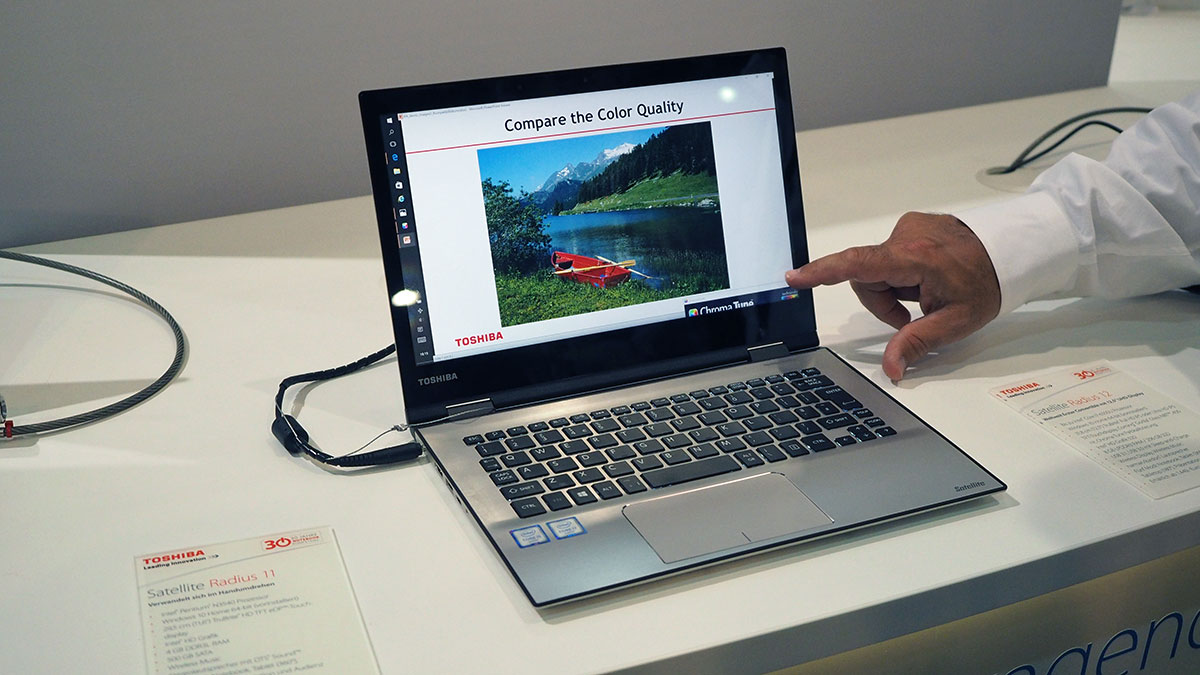 Toshiba's convertible 4K laptop is somehow light, stylish and thin
