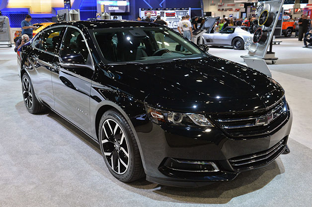 Chevrolet Impala Blackout concept at the 2014 SEMA show, front three-quarter view.