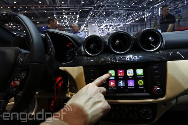 CarPlay on a Ferrari