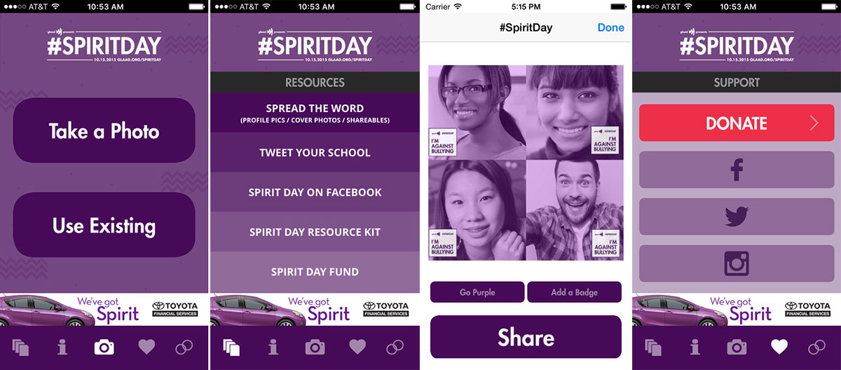 GLAAD updates Spirit Day app for 2015's anti-bullying event