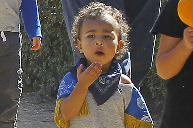Kim Kardashian dresses North West in a CAPE!