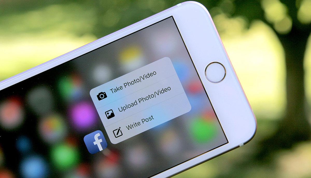Facebook ya utiliza las comodidades de 3D Touch