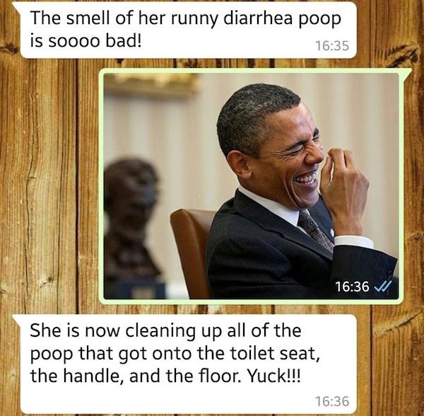 disastrous poop story