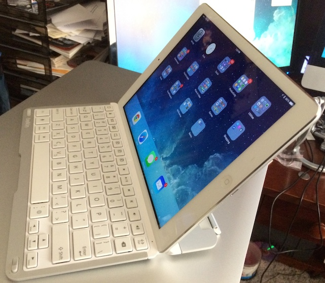 iPad Air with Belkin QODE Thin Type Keyboard Case