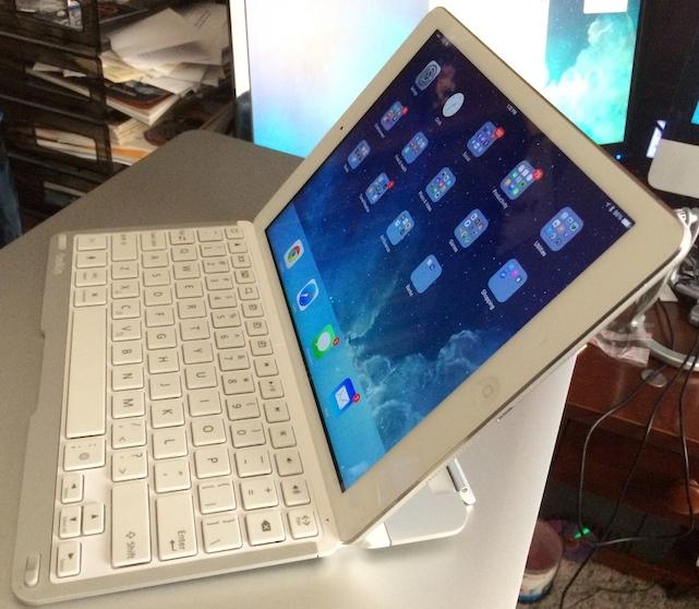 iPad Air with Belkin QODE Thin Type Keyboard Case