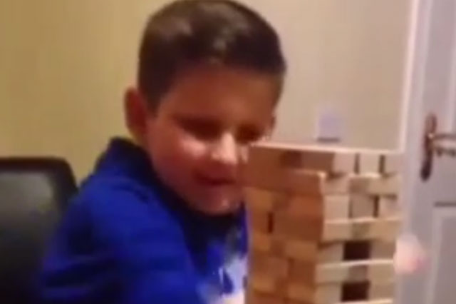 Schoolboy, 10, executes ultimate Jenga move (video)