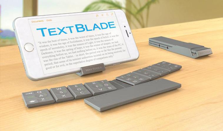 WayTools Unveils TextBlade for iPhone 6. Touch-Typing Breakthrough. (PRNewsFoto/WayTools)