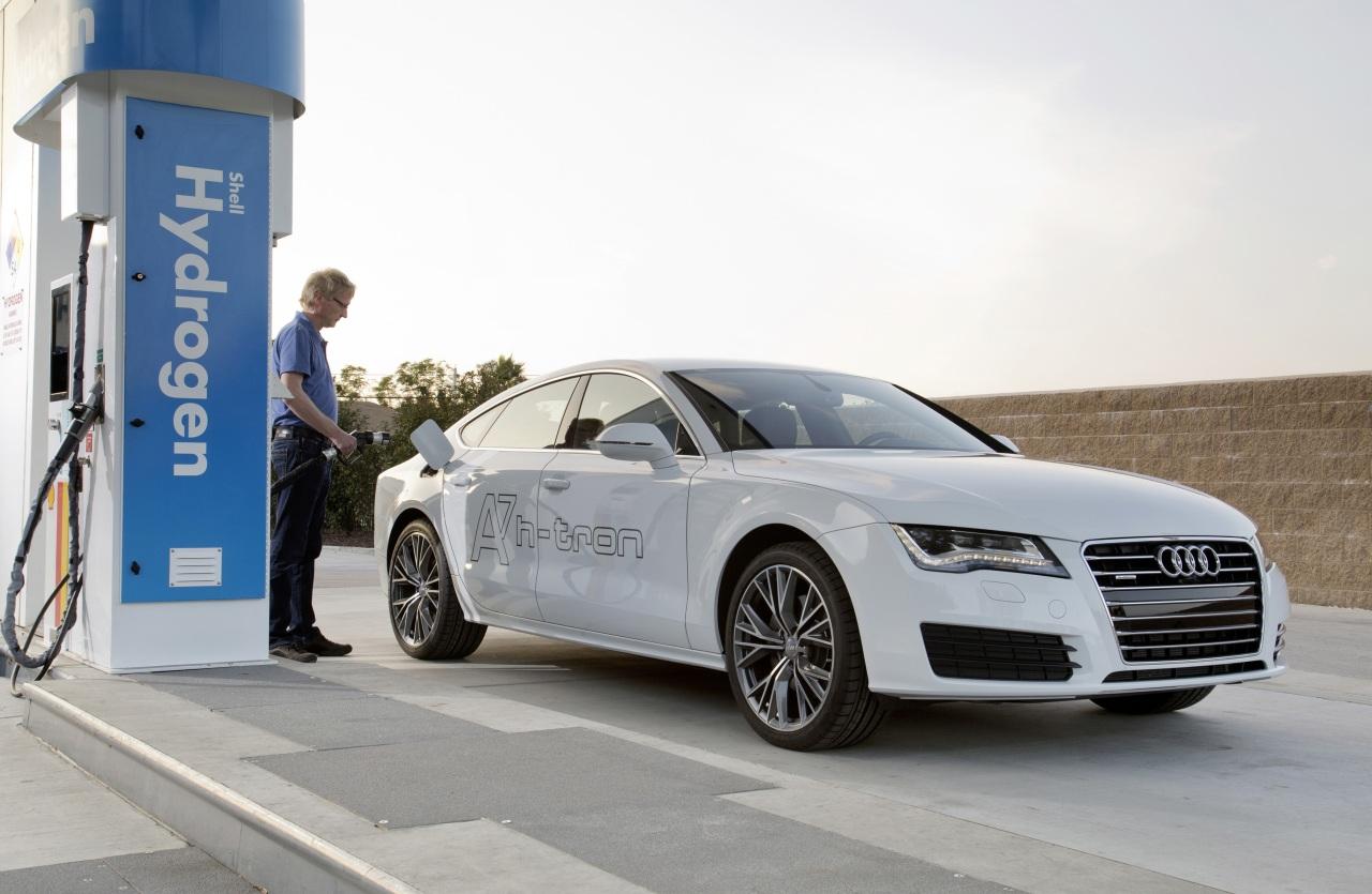 A7 Sportback h-tron quattro, Audi A7, fuell cell, brennstoffzelle, Wasserstoff, Hybrid, h-tron quattro, Audi A7 Hybrid, L.A. auto show, premiere, revealed, debüt, fotos,