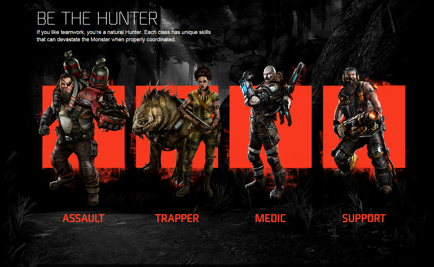 Evolve's Hunter classes are shown off in this video