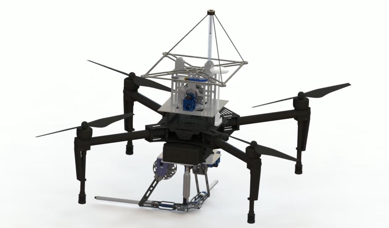 SpiderMAV: Drohne verschießt Magnet-Anker, hängt im Netz ab