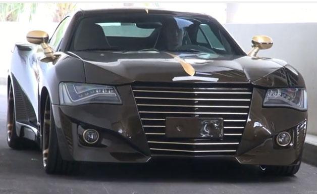 【ビデオ】ベースはメルセデス「SLK」、ライトはアウディ「A8」というカスタムカー