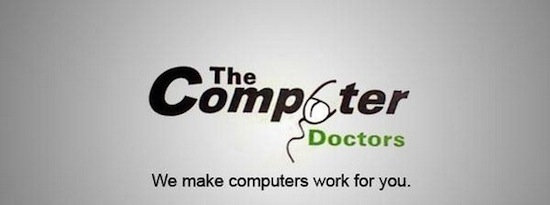 the computer doctors logo, business logo fails