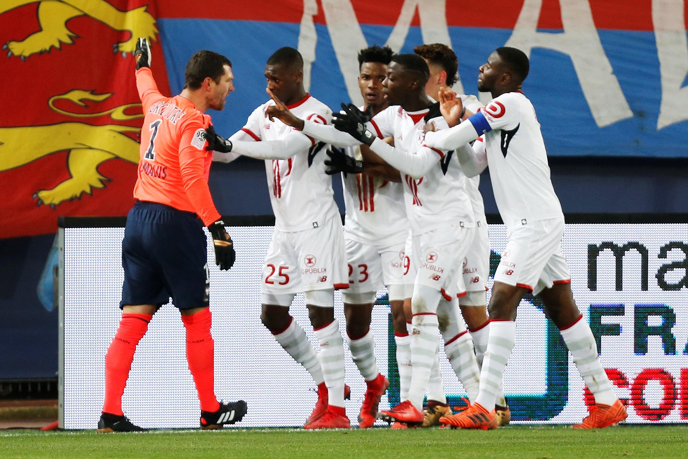 Caen-Lille: le gardien Rémy Vercourtre exclu pour avoir protesté contre… une célébration de but