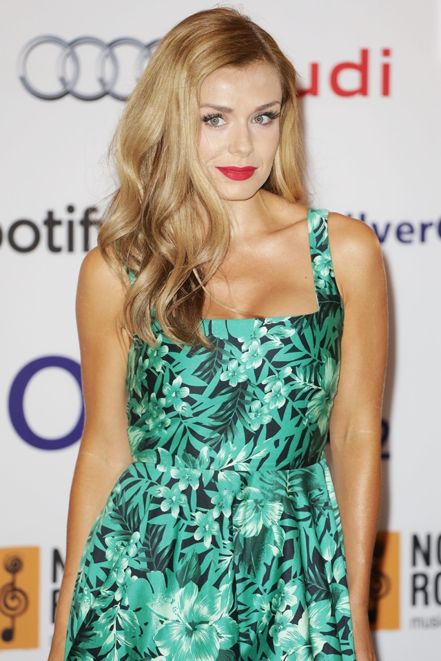 Katherine Jenkins wows in green Zara dress at Silver Clef Awards