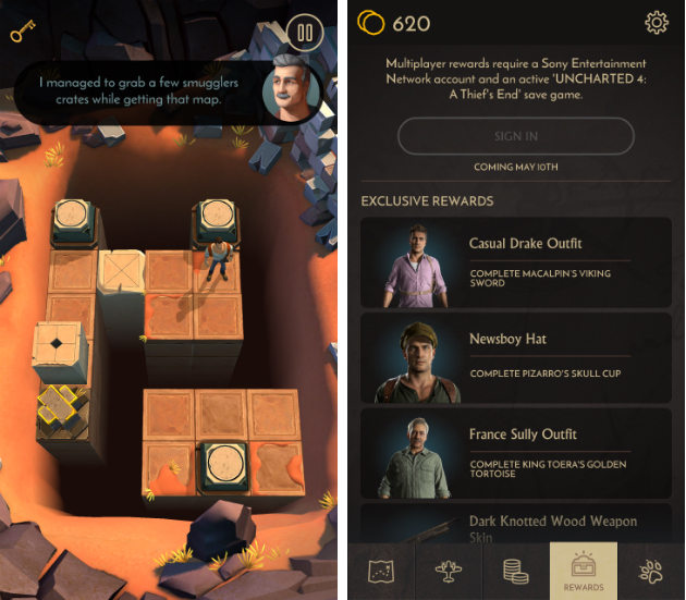 'Uncharted' swings onto smartphones as a free puzzle game