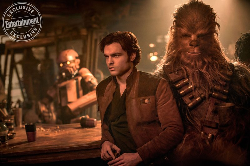 SOLO: A STAR WARS STORY.<br /> Alden Ehrenreich as Han Solo and Joonas Suotamo as Chewbacca