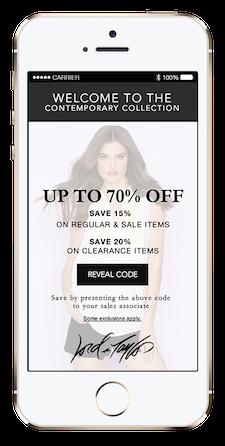 Swirl iBeacon marketing app
