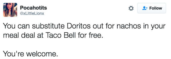 taco bell life hacks, taco bell pro tips, taco bell tweets