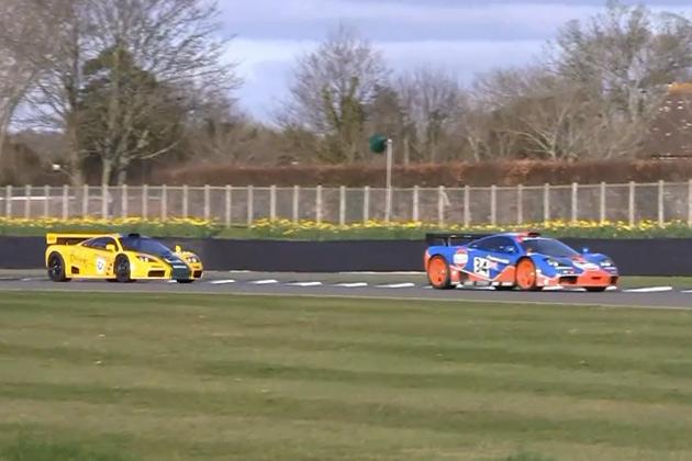 【ビデオ】16台ものマクラーレン「F1 GTR」が集結! 爆音を響かせサーキットを走行