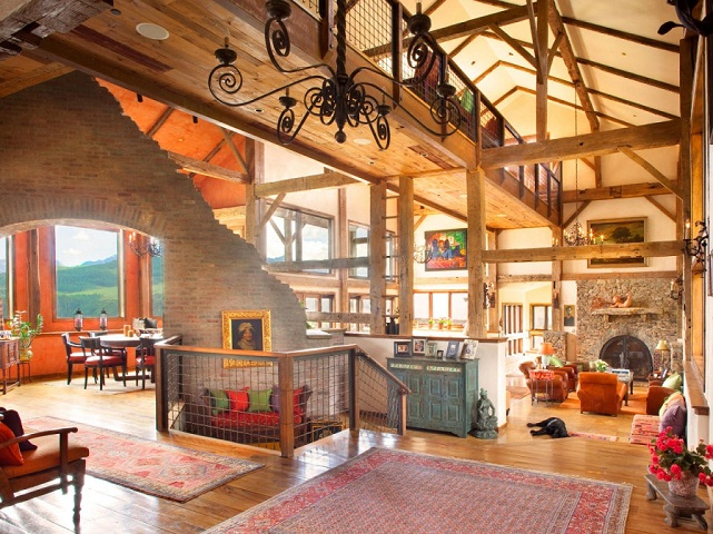 interior of telluride house owned by steve catsman