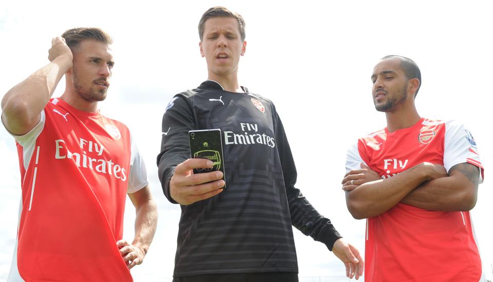 Nothing says you're an Arsenal fan like buying a Huawei P7