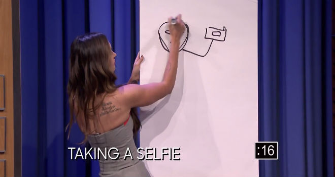 Megan Fox, Tonight Show, Pictionary, Jimmy Fallon