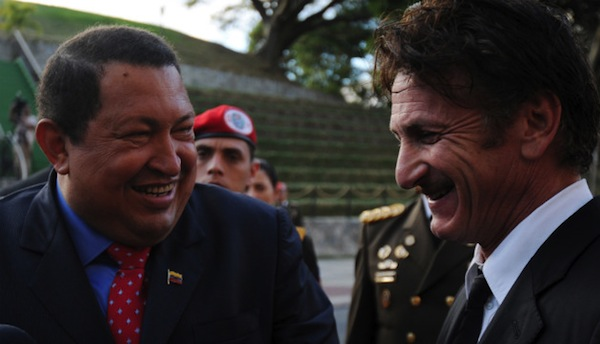reasons sean penn is a douche, said hugo chavez is most important force on the planet
