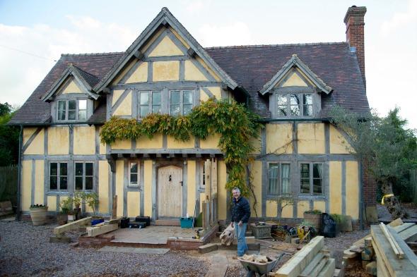 self-built Elizabethan house