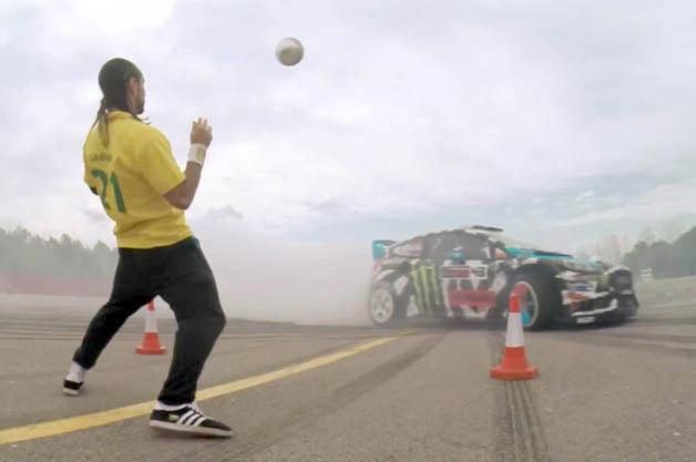 【ビデオ】ドリフト王者、ケン・ブロックとサッカー界のスター、ネイマールが対決!
