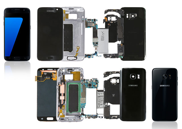 Samsung does its own Galaxy S7 and S7 Edge teardown