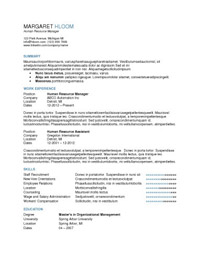 Great attention to detail resume