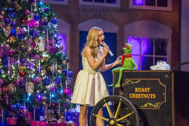 Katherine Jenkins gets in the Christmas spirit with Kermit the Frog