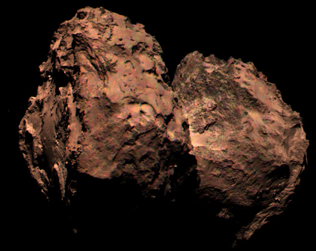 Rosetta's camera takes the first color image of its comet