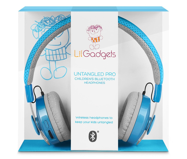 LilGadgets Untangled Pro Childrens Wireless Bluetooth Headphones Blue