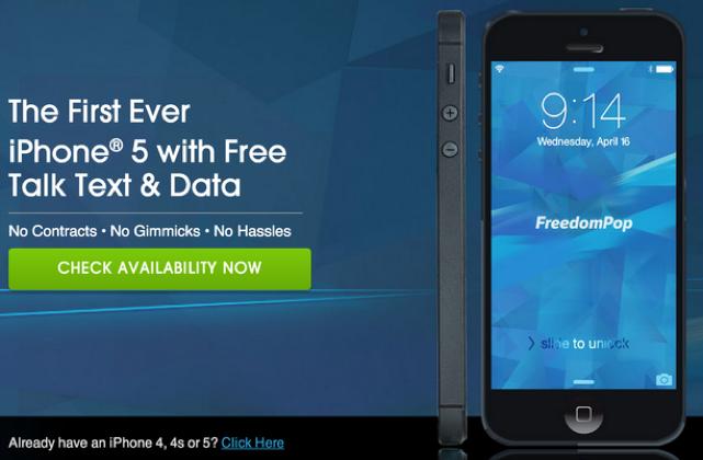 FreedomPop iPhone deal