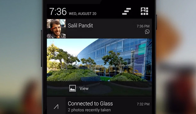 Google Glass can now display Explorers' phone notifications (video)