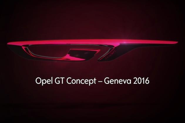 【ビデオ】3月のジュネーブ・モーターショーでデビューする「オペル GT コンセプト」のティーザー映像