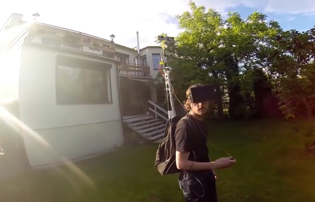 Third-person kit using GoPro and Oculus Rift