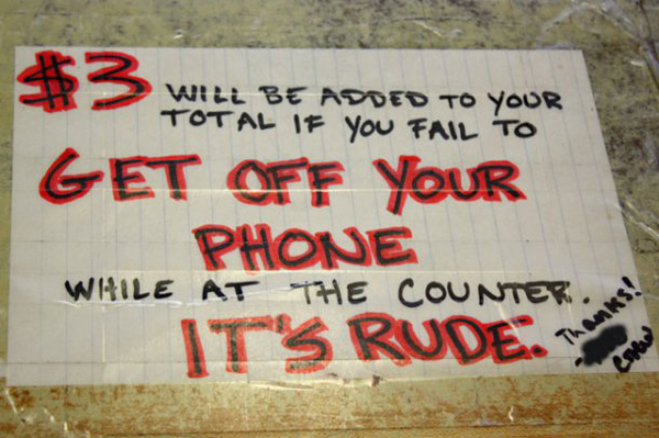 rude cell phone