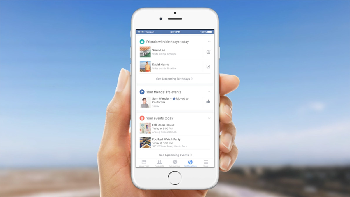 Facebook's mobile notifications say more about the world around you