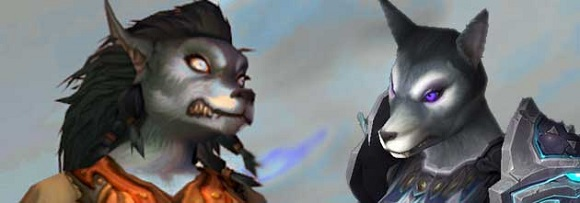 New vs old worgen female model