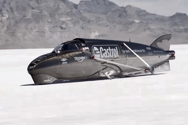 Triumph Castrol Rocket at Bonneville Salt Flats