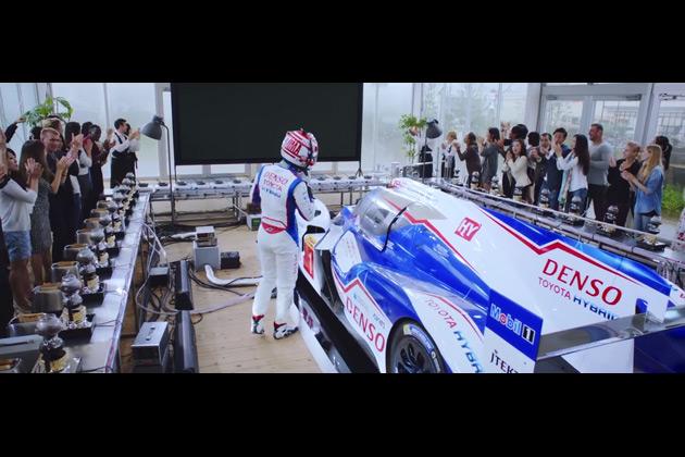 【ビデオ】トヨタ、ル・マンを走る「TS040 HYBRID」の回生エネルギーで、171人分の朝食を作る!