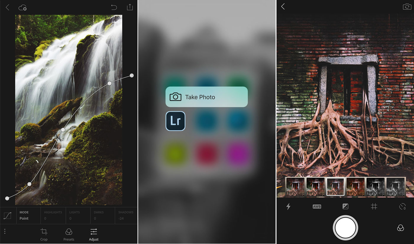 Adobe Lightroom mobile for iOS handles full resolution images